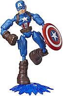 Игровая фигурка Avengers Мстители Бенди Капитан Америка от Hasbro (E7869_E7377), фото 1