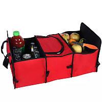 Распродажа! Сумка органайзер-холодильник для автомобиля Красная, авто сумка в багажник для машины, фото 1