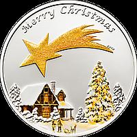 "Серебряная монета ""Счастливого Рождества"""