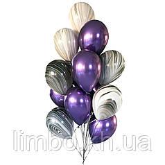 Шары мужчине на день рождения в фиолетовом цвете