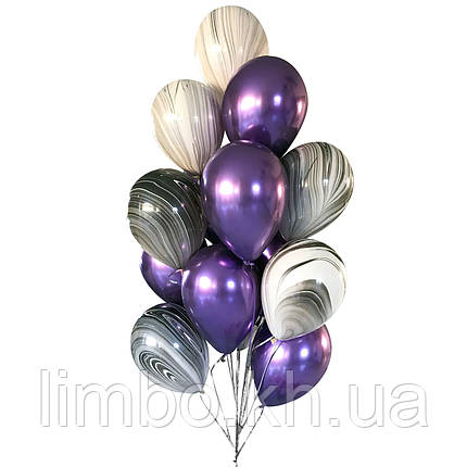 Шары мужчине на день рождения в фиолетовом цвете, фото 2