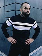 Спортивный костюм, свитшот Asos(черный с белыми вставками)+Брюки Оллблэк (черные)