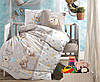 Постельное белье в детскую  кроватку 100*150 Ranforce (TM Aran Clasy) Little Bear, Турция