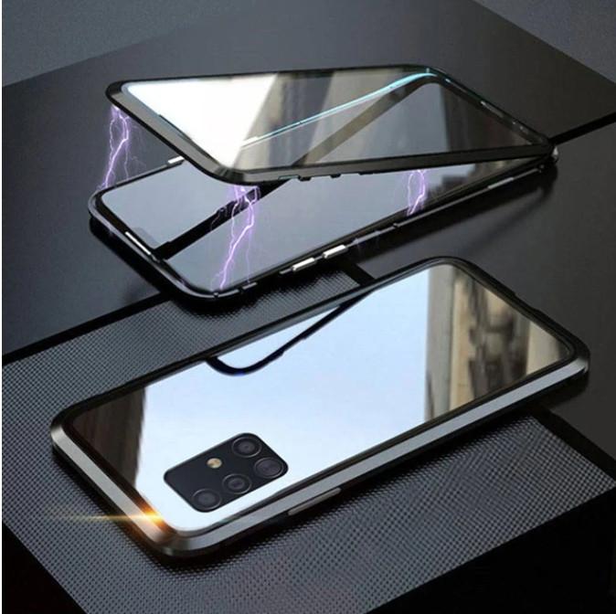 Магнитный чехол со стеклянной передней и задней панелью для Samsung Galaxy A71 (SM-A715FZKU)