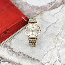 Оригинальные наручные часы Skmei 9198 Silver-Cuprum Big   Оригинал Скмей, Гарантия 1 год!, фото 2