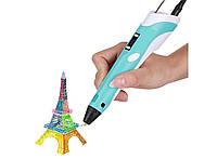 3D ручка 3D PEN-2 MyRiwell ORIGINAL с LCD дисплеем для 3Д рисования ребенку (с пластиком в комплекте)