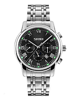 Чоловічі годинники Skmei 9121 Silver Black