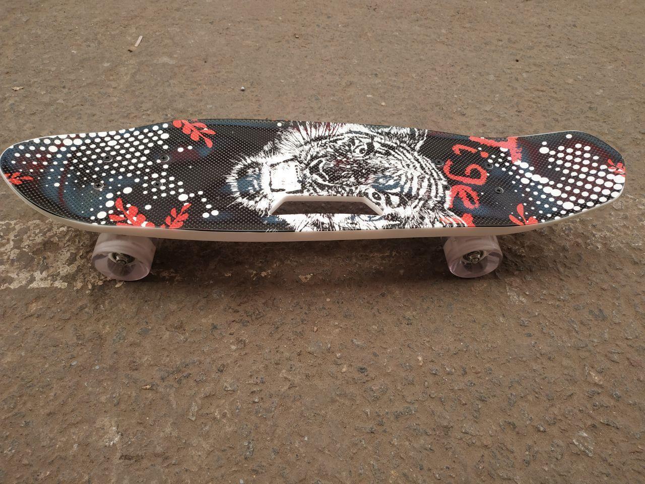 Скейт Пенни борд Best Board, СВЕТ, доска=55см, колёса PU d=6см
