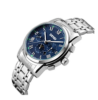 Чоловічі годинники Skmei 9121 Silver Blue