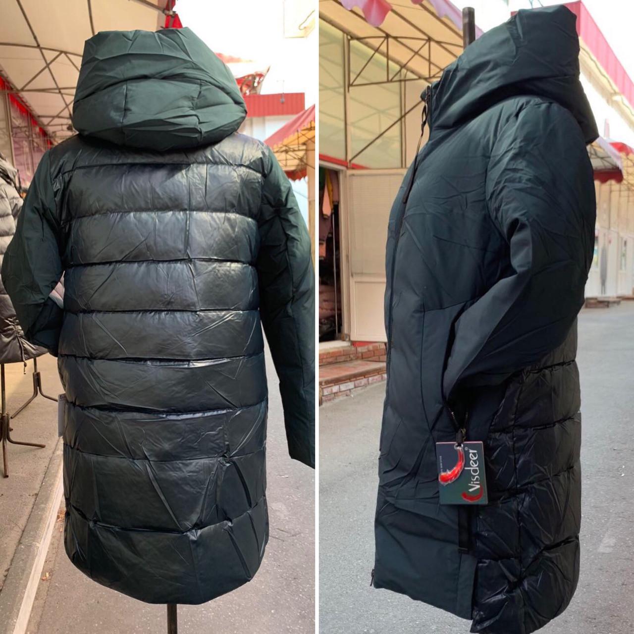 Куртки Пуховики Visdeer Баталов Жіночі Оптом Розміри 48-58 Фабричний Китай Опт