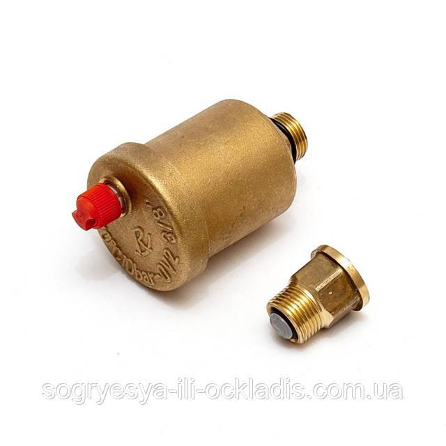 """Клапан автоматический воздушный, подсоединение 1/2 или 3/8 """", код сайта 0258"""