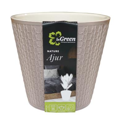 Горшок для цветов Ajur D160мм/1,6л Молочный шоколад