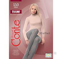 Женские теплые серые колготы Triumf 150 Den Conte 8С-57СП Grafit 5