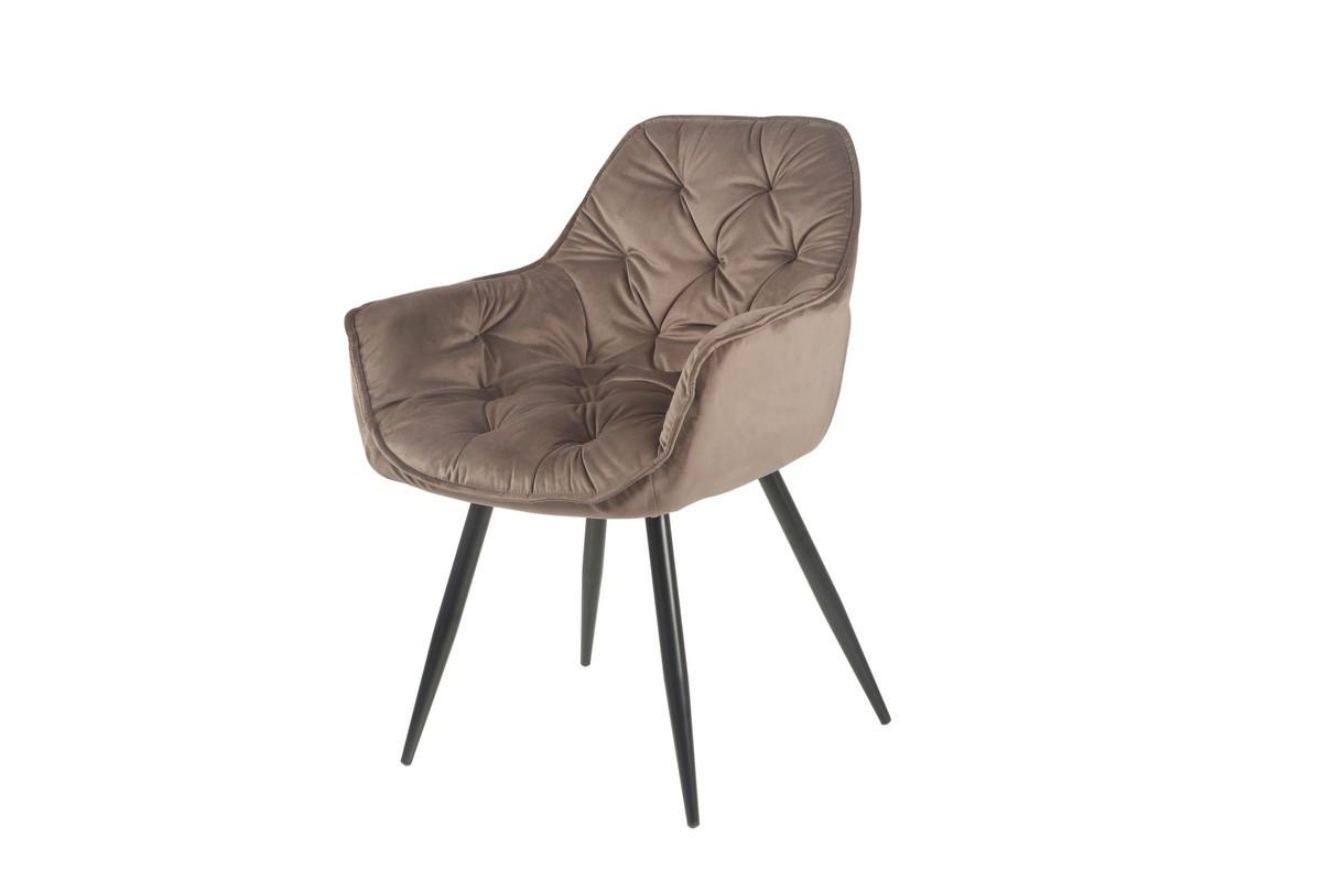 Стілець M-65 коричневе м'яке крісло метал в стилі модерн