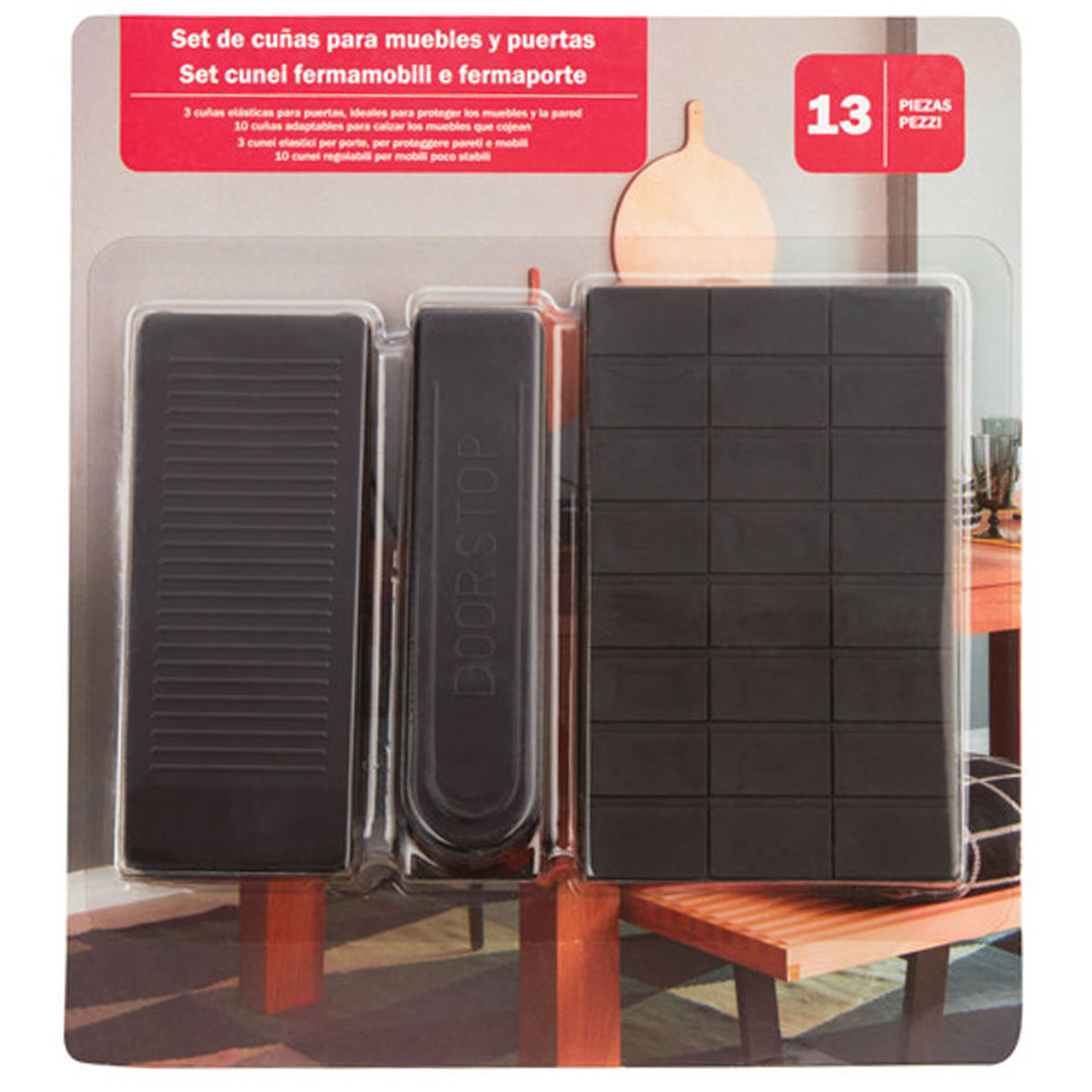 Набор стопперов для двери и мебели, 13 шт