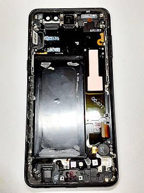 Модуль сенсор+дисплей черный  Samsung A530F Galaxy A8 (2018) оригинал б.у., фото 2