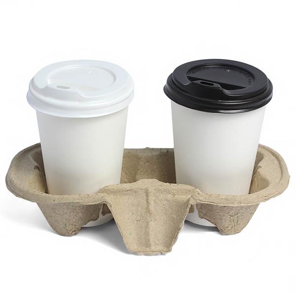 Картонна підставка під кави на дві склянки 50шт / уп