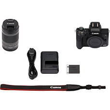 Цифрова фотокамера Canon EOS M50 + 18-150 IS STM Kit Black (2680C056), фото 3