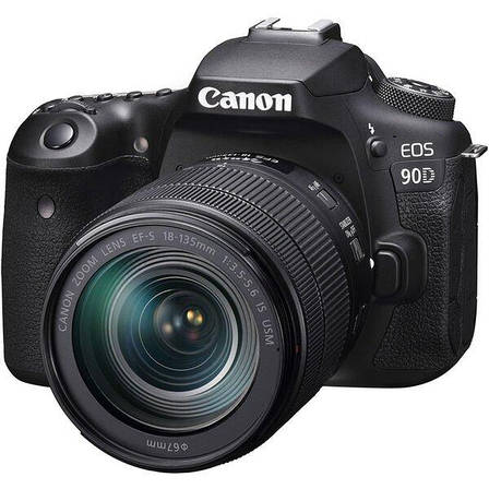 Цифровая фотокамера зеркальная Canon EOS 90D + 18-135 IS nano USM (3616C029), фото 2
