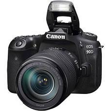 Цифрова фотокамера дзеркальна Canon EOS 90D + 18-135 IS nano USM (3616C029), фото 3