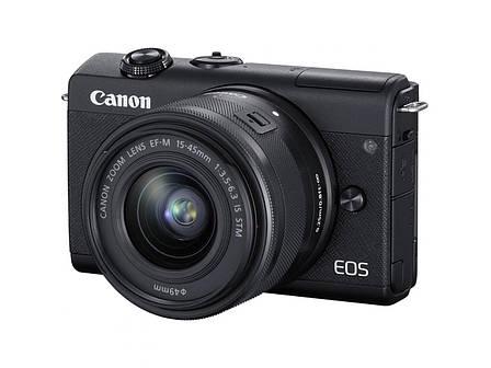 Цифрова фотокамера Canon EOS M200 + 15-45 IS STM Black (3699C027), фото 2