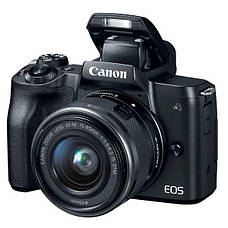 Цифровая фотокамера Canon EOS M50 + 15-45 IS STM + 55-200 IS STM Black (2680C054), фото 3