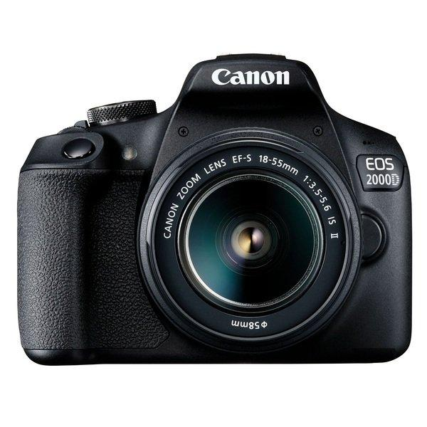 Цифрова фотокамера дзеркальна Canon EOS 2000D + 18-55 IS II + SB130 (2728C015)