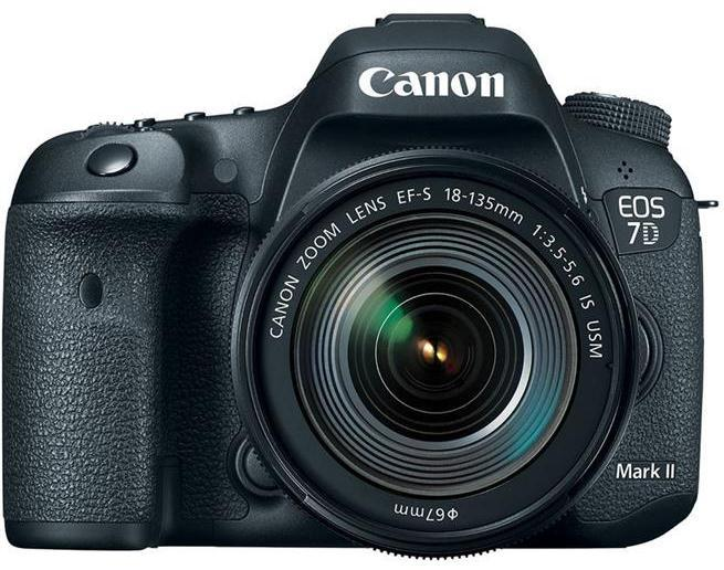 Цифрова фотокамера дзеркальна Canon EOS 7D Mark II +  18-135 IS USM + WiFi адаптер W-E1 (9128B163)