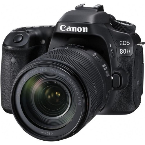 Цифровая фотокамера зеркальная Canon EOS 80D + объектив 18-135 IS nano USM (1263C040)