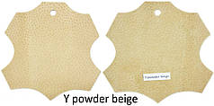 Кожа стелечная (подкладочная) воскованая цвет бежевый(Y powder beige)