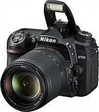 Цифрова фотокамера дзеркальна Nikon D7500 KIT AF-S DX 18-105 VR (VBA510K001), фото 3