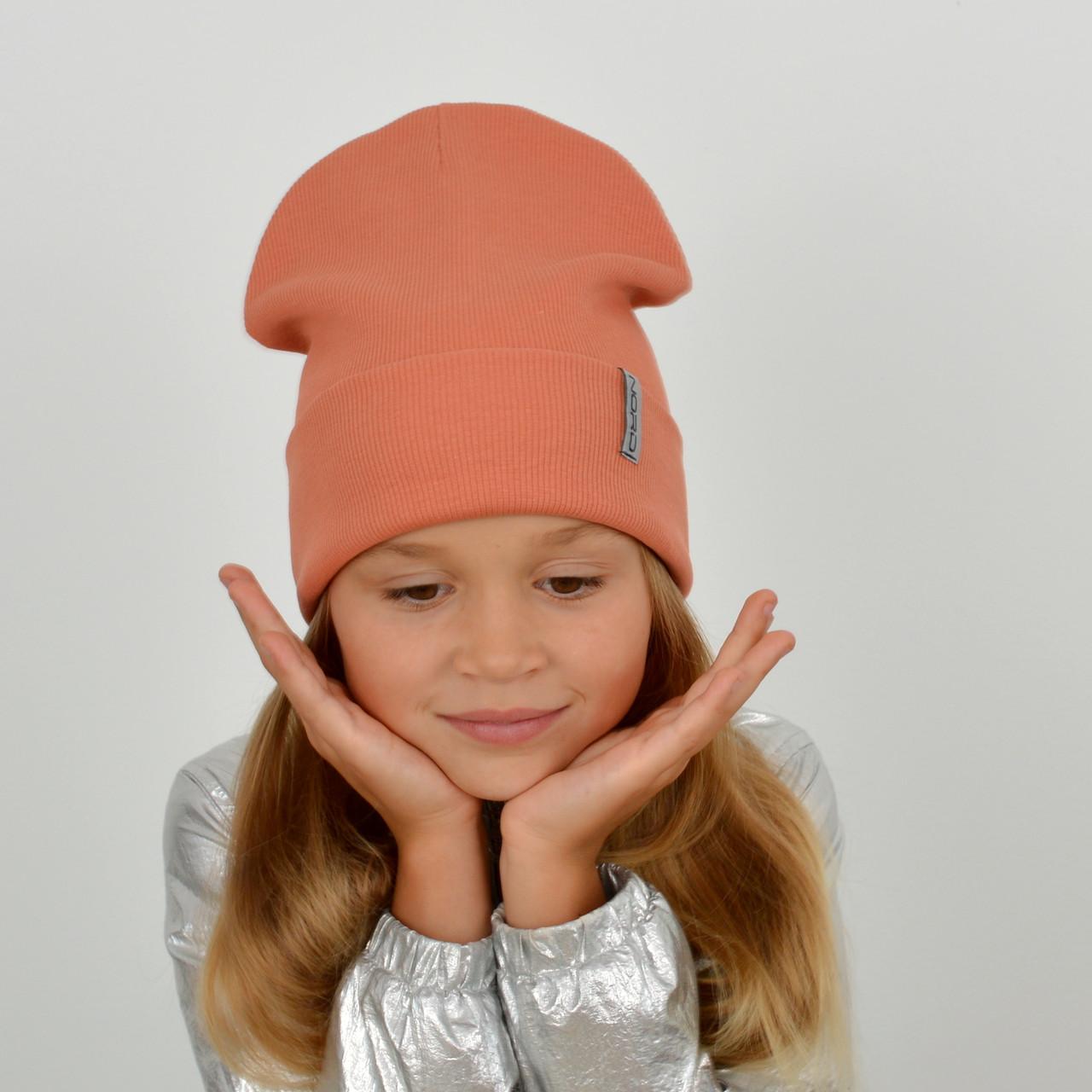 Шапка хлопковая Nord (флажок)  Персик