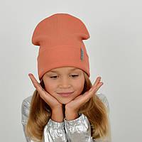 Шапка хлопковая Nord (флажок)  Персик, фото 1
