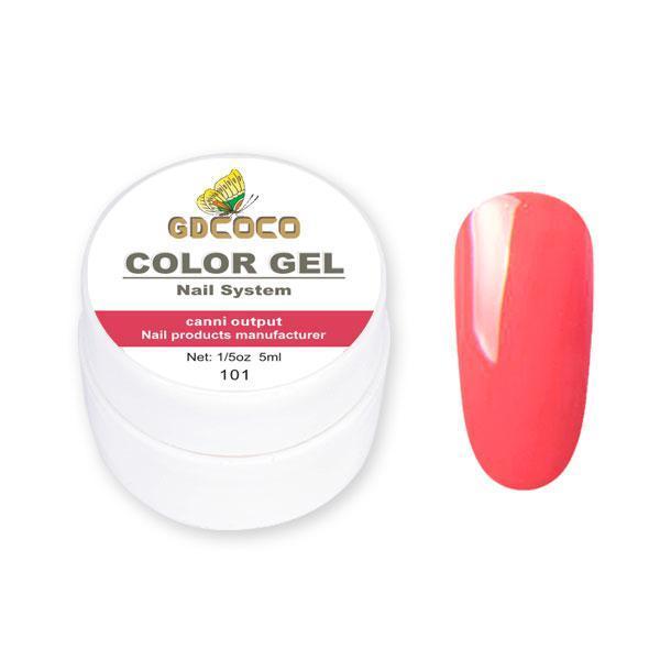 Гель-краска GDCoco Color Gel 101 насыщенный красный 5 ml