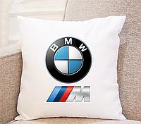 Подушка в машину. Подушка BMW. Практичный подарок водителю.