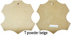 Кожа стелечная (подкладочная) воскованая цвет Бежевый(T powder beige)