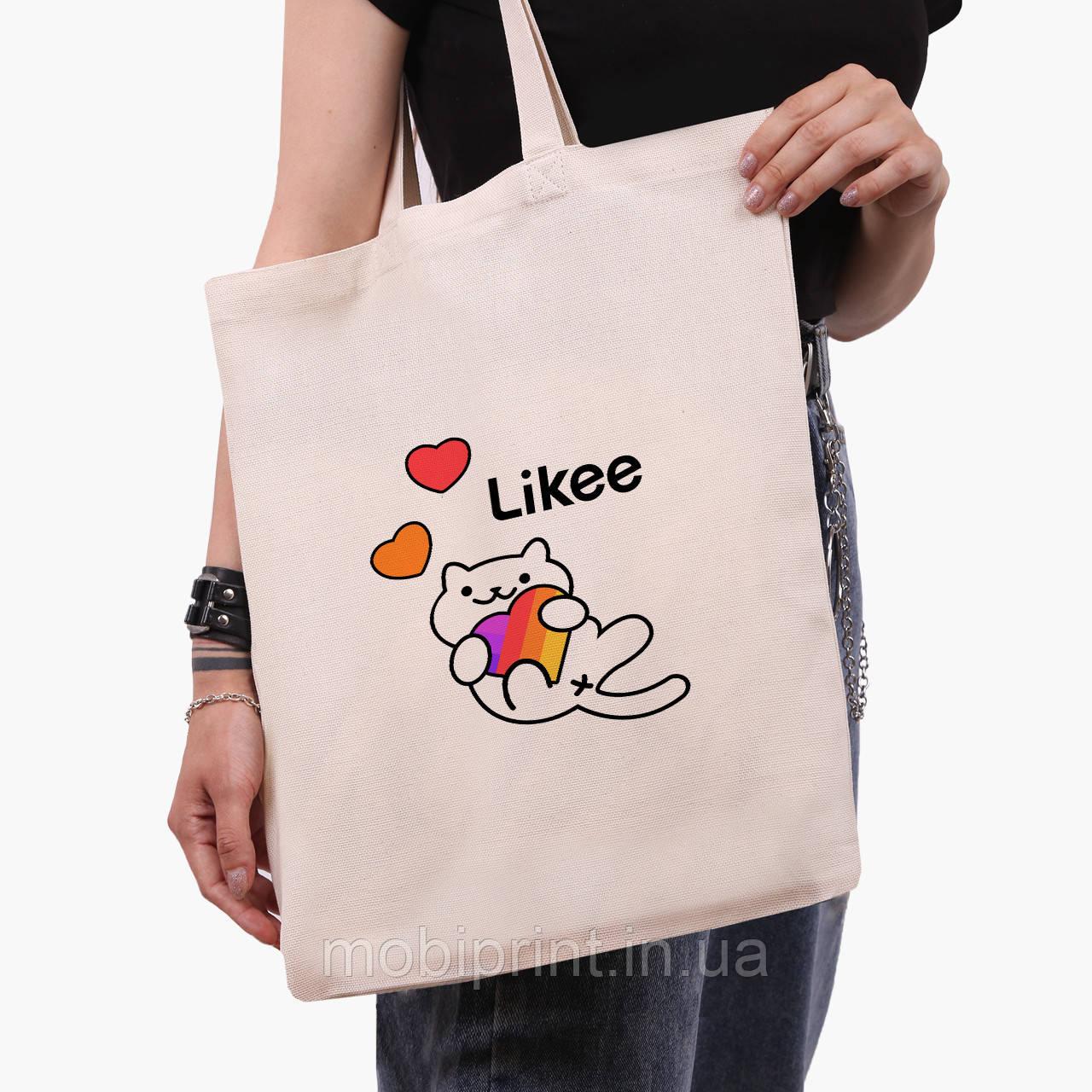 Эко сумка шоппер Лайк (Likee) (9227-1039)  экосумка шопер 41*35 см