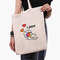 Эко сумка шоппер Лайк (Likee) (9227-1039)  экосумка шопер 41*35 см , фото 1