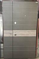 Двери входные металлические полуторные  модель Тифани