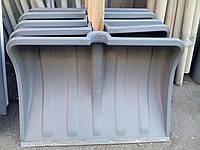 Лопата снегоуборочная, с деревянным черенком, пластмассовый ковш, пластмассовая ручка, ABC