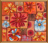 Набор для вышивания в смешанной техник Цветочная мозаика ННД 3066