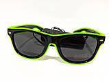 Светящиеся неоновые очки для вечеринок зеленые, фото 2