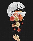 Картина за номерами. Квіти в місяці, 40*50 см, Brushme