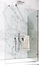 Прямокутна скляна душова перегородка прозора зі штангою