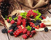Картина по номерам. Ягоды: ежевика, малина, смородина, 40*50 см, Brushme