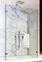 Скляна душова перегородка прозора зі штангою