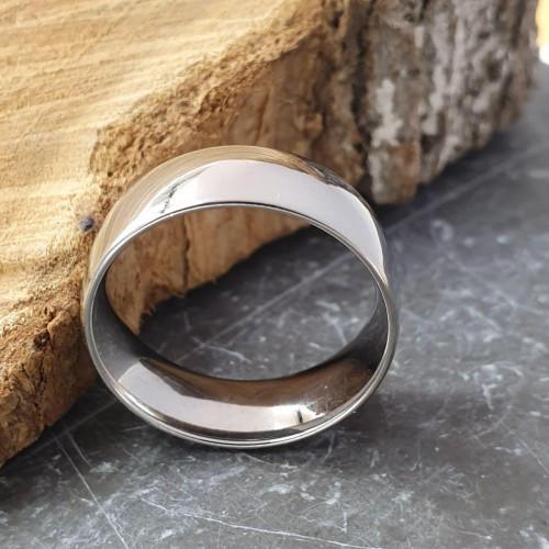Кільце із сталі обручку класика 8 мм глянсове під гравіювання 172280