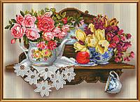 Наборы для вышивания в смешанной технике Цветочный романс ННД 3077