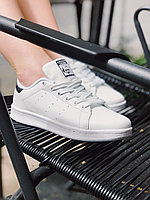 Кроссовки белые с черным задником Adidas Stan Smith Black Адидас Стен Смит, фото 1