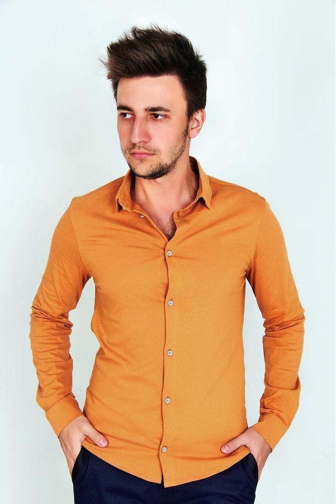 Мужская рубашка с длинным рукавом 3253